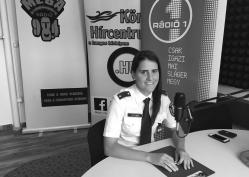 Kutyik Margit, rendőr hadnagy, a Békéscsabai Rendőrkapitányság balesetmegelőzési főelőadója